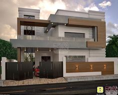 Most Amazing Prefer House Design Forever - Engineering Discoveries Modern Roof Design, Flat Roof Design, Modern Small House Design, Modern Exterior House Designs, Modern Architecture House, Modern House Plans, Modern Houses, 3 Storey House Design, Bungalow House Design
