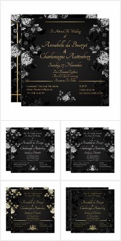 Floral Invitation, Invitation Suite, Zazzle Invitations, Invitation Design, Date Squares, Seating Cards, Old World Style, Paper Design, Thank You Cards