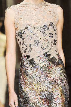 lace over sequins