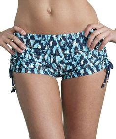 Another great find on #zulily! Blue Ikat Swim Shorts - Women #zulilyfinds