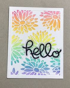 Hi there stampers! I have a fun card for you today featuring three different techniques. The first technique features the new Stylish Stems Framelits from the 2017 Stampin Up Catalog. I used the la