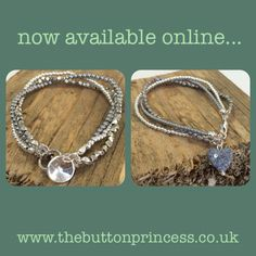 Two new, silver mix multi strand sterling bracelets, which are now available in my little online shop...  Find them in the Elements of Silver aisle.   #jewellery #jewelry #silver #handmade #original #bracelets  www.thebuttonprincess.co.uk