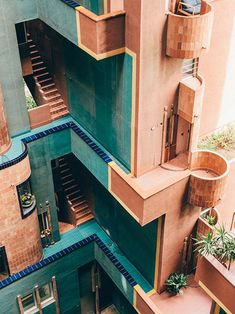 Photographer Salva López captured the cubist heights and halls of Walden Ricardo Bofill's utopian vision for social living in Sant Just Desvern, Spain. Together with Monocle he discovers a community-minded building that turned science fiction into harmo Architecture Design, Amazing Architecture, Cubist Architecture, Contemporary Architecture, Barcelona Architecture, Building Architecture, Contemporary Design, Computer Architecture, Vintage Architecture
