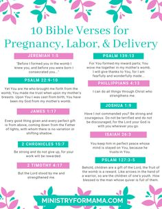 Need a little Biblical encouragement for your pregnancy? Get the free printable download of the 10 Bible verses for pregnancy, labor, and delivery.