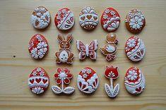 Veľkonočné medovníčky / juulinka - SAShE.sk - Handmade Dekorácie Valentine Cookies, Easter Cookies, Holiday Cookies, Easter Brunch, Royal Icing, Cookie Decorating, Amazing Cakes, Cupcake Cakes, Gingerbread