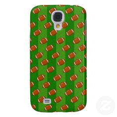 Fun Novelty Football and Green Grass Pattern Galaxy S4 Covers