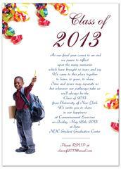 2014 5th grade elementary graduation invitation exle 5x7 in