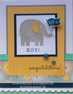 Misalaneous Inspiration: Baby Boy Card