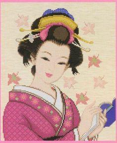 Geisha art for decorations