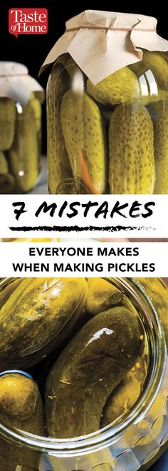 7 Mistakes You're Probably Doing While Making Pickles - recipes Canning Dill Pickles, Spicy Pickles, Homemade Pickles, Home Canning Recipes, Canning Tips, Cooking Recipes, Pickeling Recipes, Healthy Recipes, How To Make Pickles