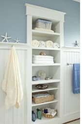 homedecor bathroom Nautical Bathroom Ideas - Browse 13 images of Nautical Bathroom. Discover ideas and also inspiration for Nautical Bathroom to contribute to your own home. Bathroom Ideas Uk, Kid Bathroom Decor, Nautical Bathrooms, Bathroom Closet, Upstairs Bathrooms, Bathroom Shelves, Bathroom Inspiration, Bathroom Built Ins, Master Bathroom