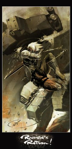 MGS - 4 Raiden Returns by MarcWasHere