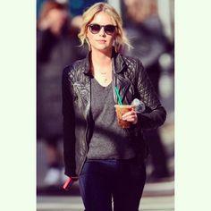 We love Ashley Benson's leather jacket! | Pretty Little Liars