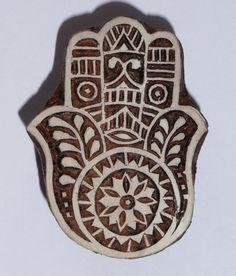 Fair Trade 6cm Hamsa Hand Design Carved by PilgrimsFairTrade
