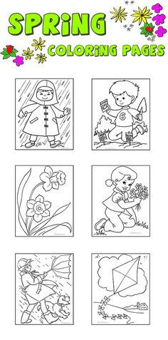 Spring coloring pages - Free and printable, dozens of cute pages!