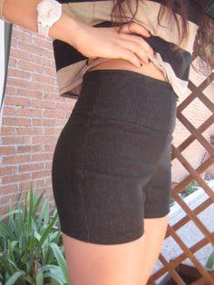 Cómo hacer unos shorts de talle alto, patrones incluidos