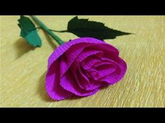 Paper flowers youtube crafted flowers pinterest paper how to make a crepe paper rose craft tutorial youtube mightylinksfo