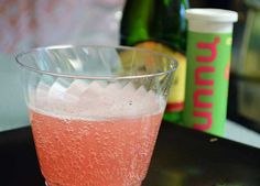 #Nuuntini recipe: alternative recipe for a Nuunmosa. Add 1 tab of your favorite flavor of Nuun to 6 oz sparkling wine. | Girls Gone Sporty