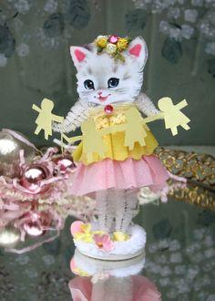 Birthday Kitty Vintage Inspired PINK SuGaR SwEeT by saturdayfinds