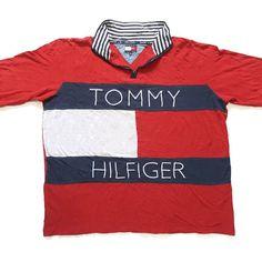 Vintage 90s Tommy Hilfiger Big Flag Logo Spell Out Fleece Jacket for sale!!    https://www.ebay.com/itm/152808387406  #Vintage #90s #TommyHilfiger #BigFlag #SpellOut #ColorBlock #HalfZipper #Fleece #Jacket #HipHop #Rap #Rare #Aaliyah