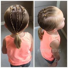 "231 mentions J'aime, 9 commentaires - Cami 🎀 Toddler Hair Ideas (@toddlerhairideas) sur Instagram : ""Here's a super simple, basic, and quick style! I sectioned off a front center rectangle, then split…"""