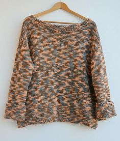 Multicolor sweater sweater oversized loose knit Grunge #sweater #oversized #loose #knitting