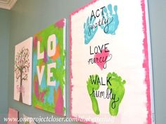 kids painting on canvas | ... do you think? Have you done any kid canvases using finger painting