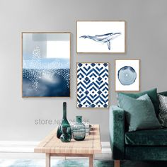 """Abstract Painting Geometry Poster Blue Watercolor Wall Art Canvas Nordic Prints Modern Wall Pictures For Living Room Decoracion"" Watercolor Walls, Watercolour Painting, Living Room Pictures, Wall Pictures, Nordic Art, Cheap Paintings, Geometric Wall Art, Office Wall Art, Modern Wall"