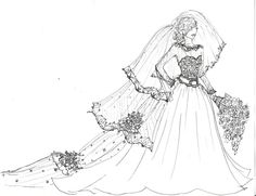 Royal Wedding Gown sketch by Laureliz456.deviantart.com on @deviantART