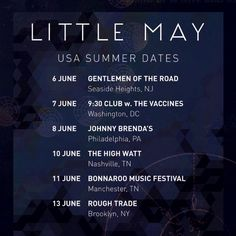 NEWS: The indie folk band, Little May, has announced a U.S. tour, including a stop at the Bonnaroo Music Festival. The tour is in support of their new self-titled EP. You can check out the dates and details at http://digtb.us/1zJdtS0