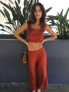 Emily Ratajakowski in a chic matching set @stylecaster