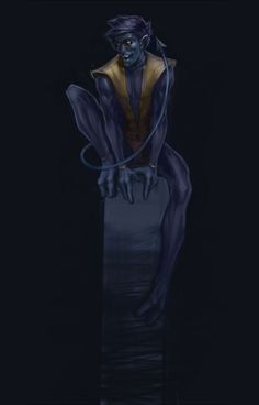 Nightcrawler/Kurt Wagner by tumblr user naizee also known as behance on deviantart