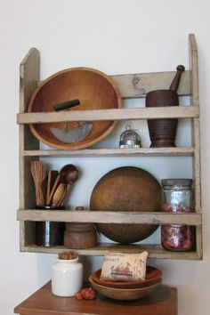 Bowl Rack hubby and I made from Char Sethman's tutorial - Pickled Pepper Patch blog