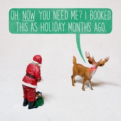 Santa & Rudolph. Aled Lewis