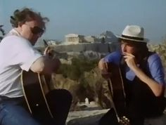 Bob Dylan & Van Morrison: Philopappos (The Hill Of The Muses), Athens, Greece 27 June 1989