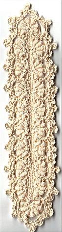 Bullion Bookmark designed by Denise Augostine Materials: Size 10 crochet cotton, size 7 steel crochet hook.