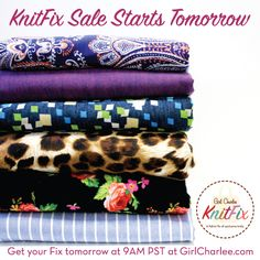 February KnitFix launches TOMORROW, February 10th at 9:00 AM PST! Be sure to set your clocks and secure your KnitFix of 6 exclusive knit fabrics never to be available again. KnitFix is first come first serve in a limited quantity, so shop early to secure yours!
