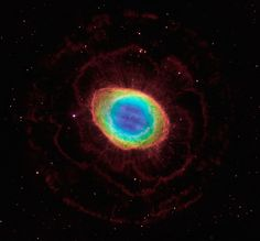 The Ring Nebula taken by the Hubble Telescope.