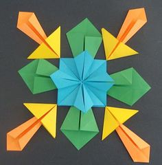 Neat symmetry lesson using origami - blog also has instructions for the four different origami folds.