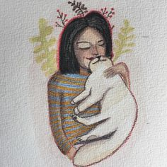 Merudemirci — #watercolor #illustration #polychromos