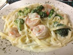 Shrimp and Broccoli Alfredo