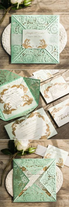 elegant-mint-green-laser-cut-wedding-invitations-EWWS116