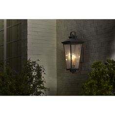 Shop allen + roth Parsons Field 27-in H Black Outdoor Wall Light at Lowes.com