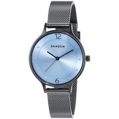 Shop for Skagen Women's 'Anita' Crystal Grey Stainless Steel Watch. Get free delivery On EVERYTHING* Overstock - Your Online Watches Store! Stainless Steel Jewelry, Stainless Steel Watch, Crystal Bracelets, Crystal Jewelry, Skagen Watches, Grey Watch, Best Watches For Men, Blue Crystals, Steel Mesh