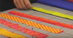 Rob Organizes Strips Of Fabric For This Mesmerizing Quilt