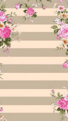Wallpaper with stripes of grey and pink roses Screen Wallpaper, Flower Wallpaper, Cool Wallpaper, Pattern Wallpaper, Wallpaper For Your Phone, Cellphone Wallpaper, Iphone Wallpaper, Flower Backgrounds, Phone Backgrounds