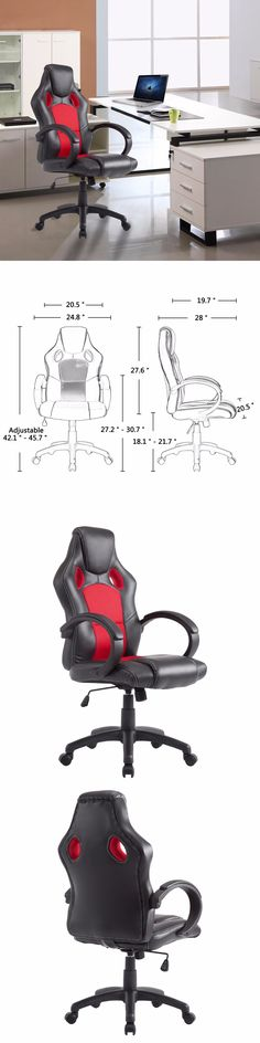 Chairs 54235: Racing Gaming Office Chair Executive Ergonomic Style Reclining Pu High Back Seat -> BUY IT NOW ONLY: $64.99 on eBay!