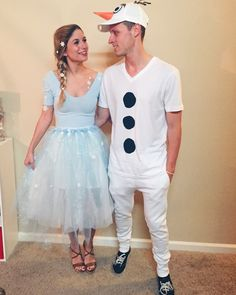 DIY Elsa and Olaf costume