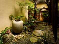 zen garden Beautiful little garden Small Japanese Garden, Japanese Garden Design, Japanese Landscape, Chinese Garden, Japanese Gardens, Little Gardens, Small Gardens, Outdoor Gardens, Zen Gardens