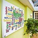 Personalised 'Memories' Word Art Canvas - pictures, prints & paintings